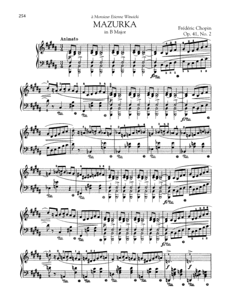 Mazurka in B Major, Op. 41, No. 2