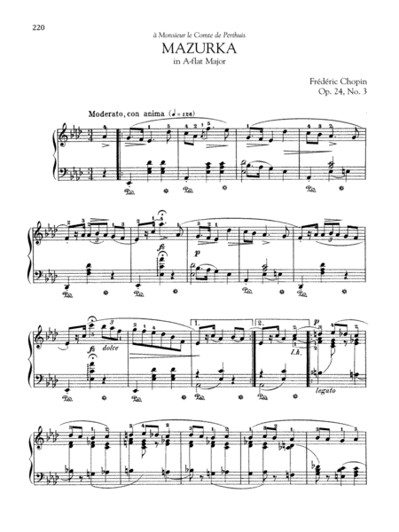 Mazurka in A-flat Major, Op. 24, No. 3