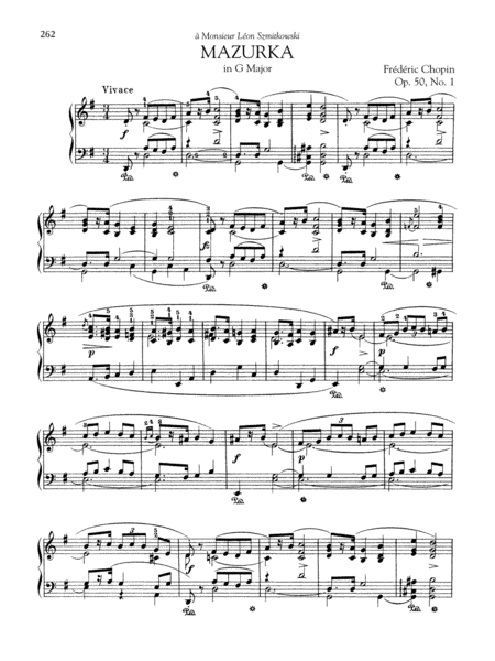 Mazurka in G Major, Op. 50, No. 1