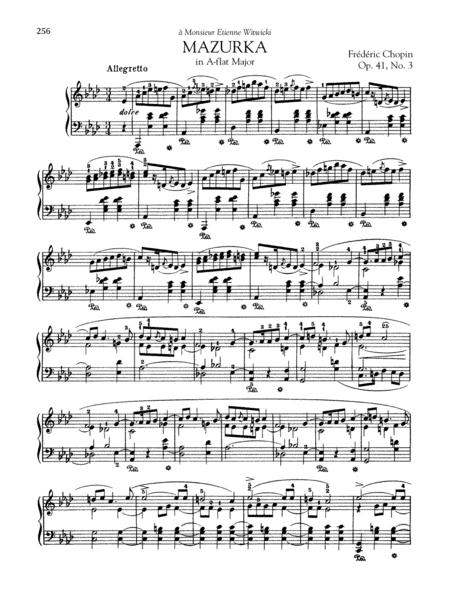 Mazurka in A-flat Major, Op. 41, No. 3