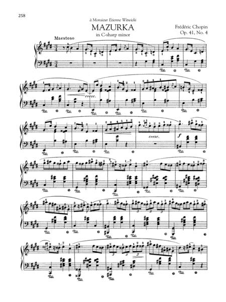 Mazurka in C-sharp minor, Op. 41, No. 4