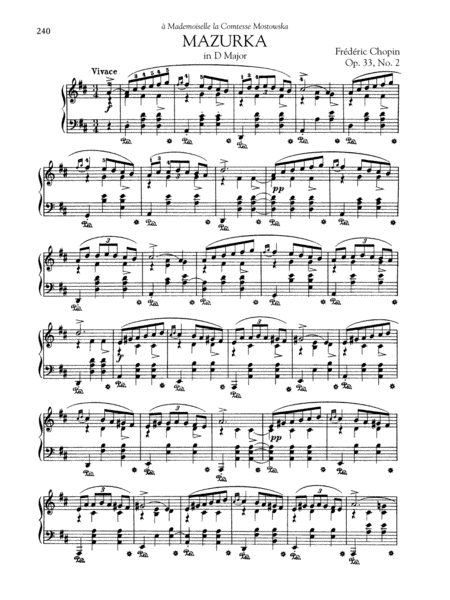 Mazurka in D Major, Op. 33, No. 2