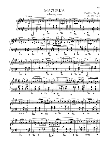 Mazurka in F-sharp minor, Op. 59, No. 3