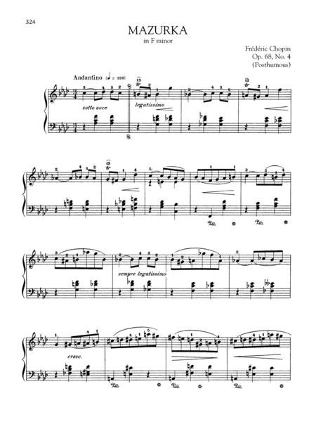 Mazurka in F minor, Op.68, No. 4 (Posthumous)