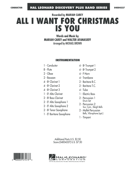 All I Want for Christmas Is You - Conductor Score (Full Score)