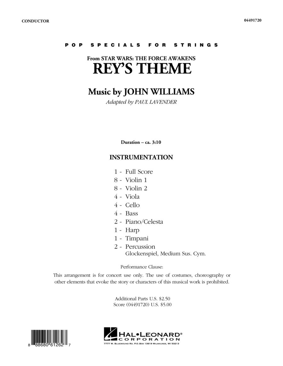 Rey's Theme - Conductor Score (Full Score)