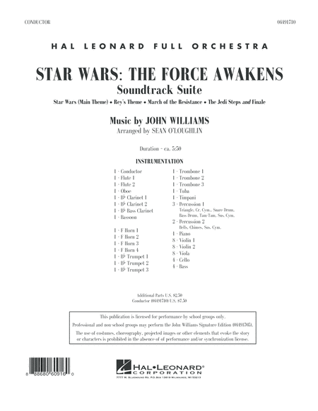 Star Wars: The Force Awakens Soundtrack Suite - Conductor Score (Full Score)