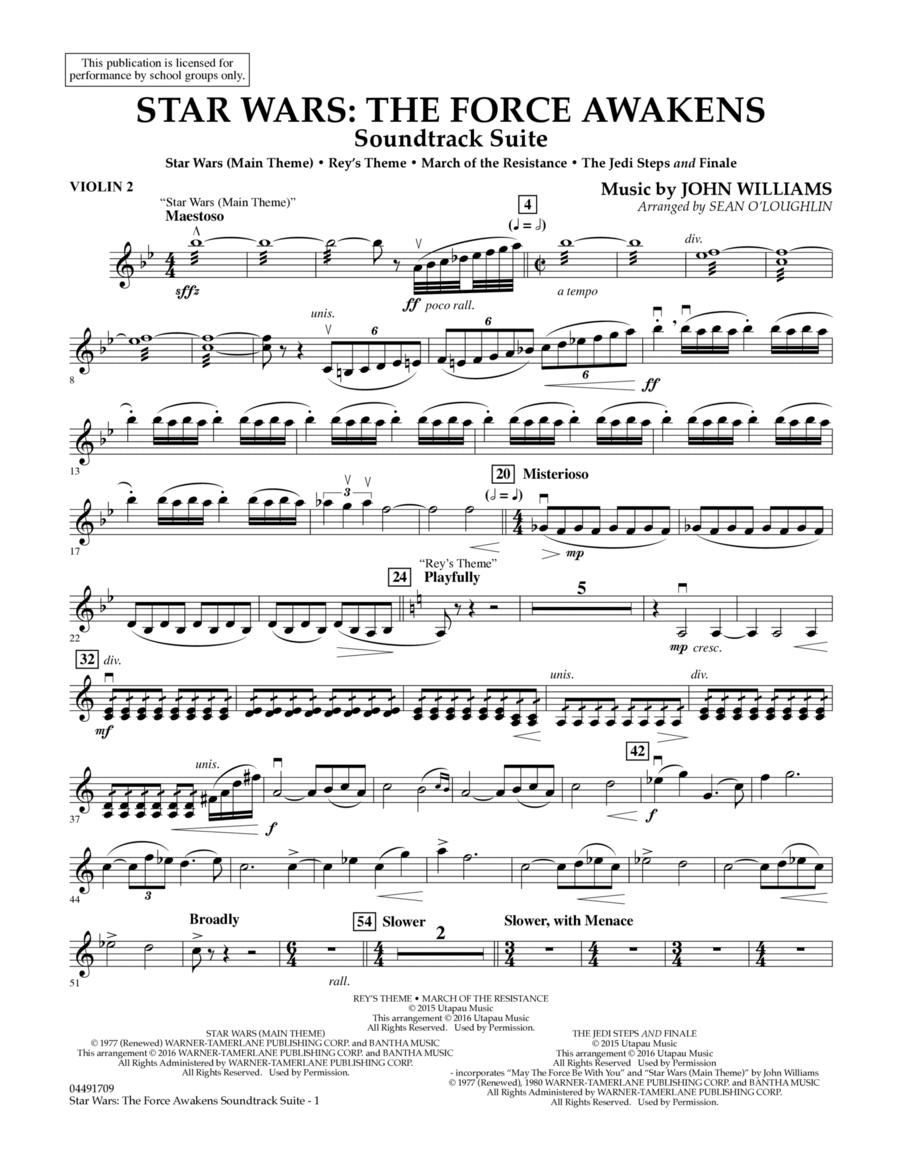 Star Wars: The Force Awakens Soundtrack Suite - Violin 2