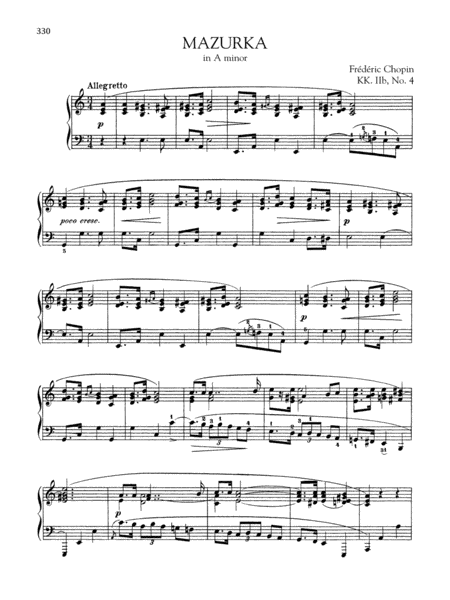 Mazurka in A minor, KK. IIb, No. 4