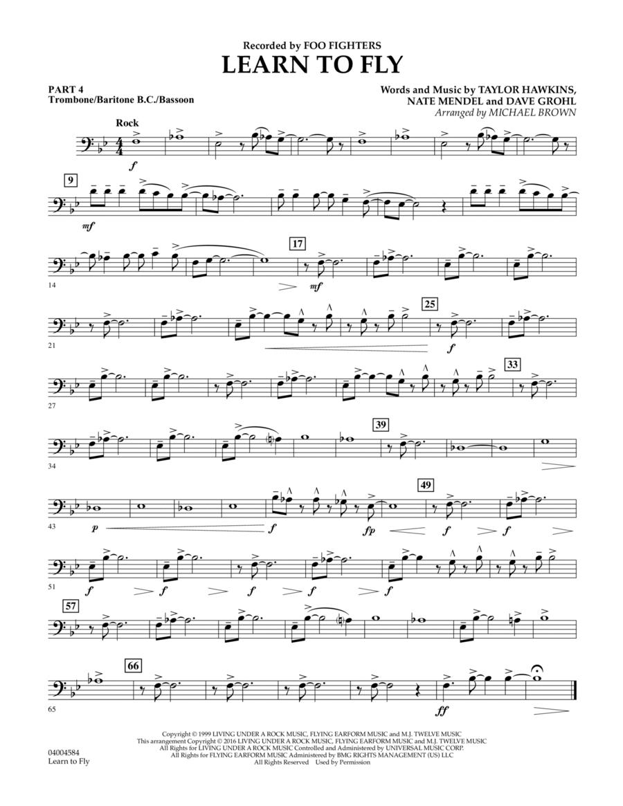 Learn to Fly - Pt.4 - Trombone/Bar. B.C./Bsn.