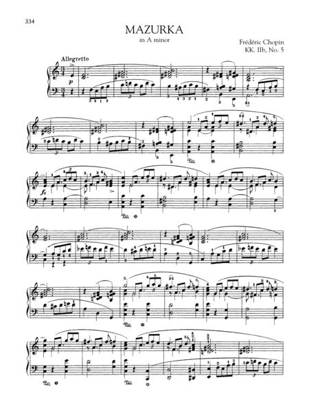 Mazurka in A minor, KK. IIb, No. 5