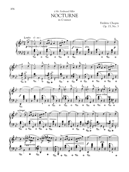 Nocturne in G minor, Op. 15, No. 3