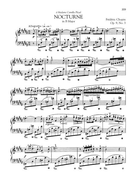 Nocturne in B Major, Op. 9, No. 3