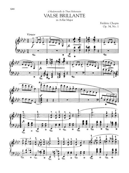 Valse brillante in A-flat Major, Op. 34, No. 1