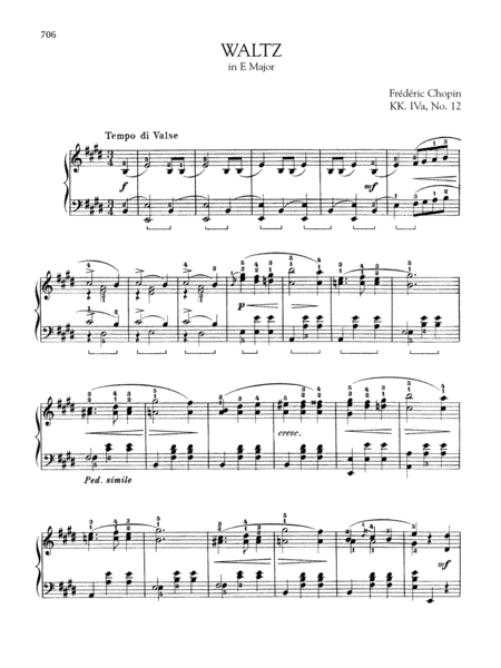 Waltz in E Major, KK. IVa, No. 12
