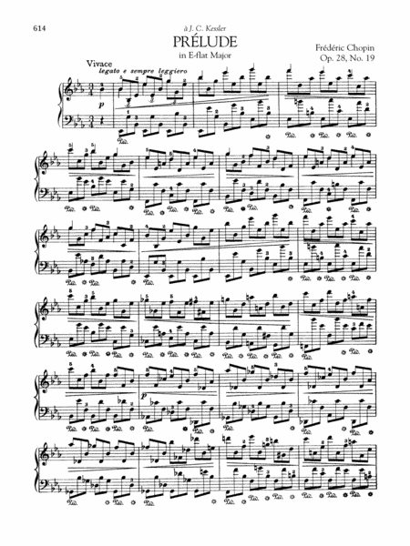 Prélude in E-flat Major, Op. 28, No. 19