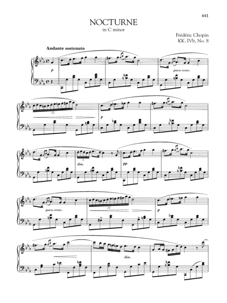 Nocturne in C minor, KK. IVb, No. 8