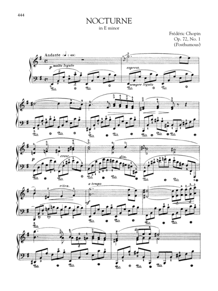 Nocturne in E minor, Op. 72, No. 1 (Posthumous)