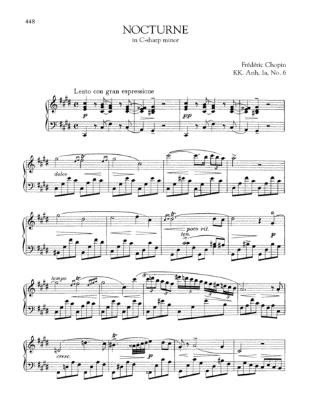 Nocturne in C-sharp minor, KK. Anh. Ia, No. 6