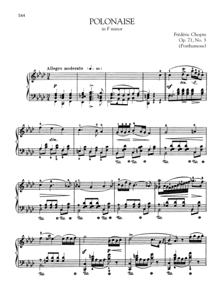 Polonaise in F minor, Op. 71, No. 3 (Posthumous)