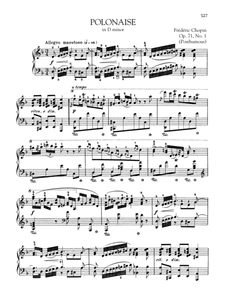 Polonaise in D minor, Op. 71, No. 1 (Posthumous)