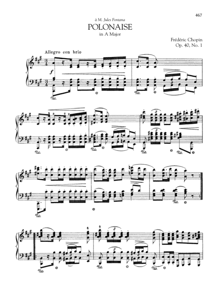 Polonaise in A Major, Op. 40, No. 1