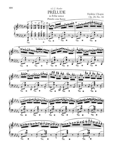Prélude in B-flat minor, Op. 28, No. 16