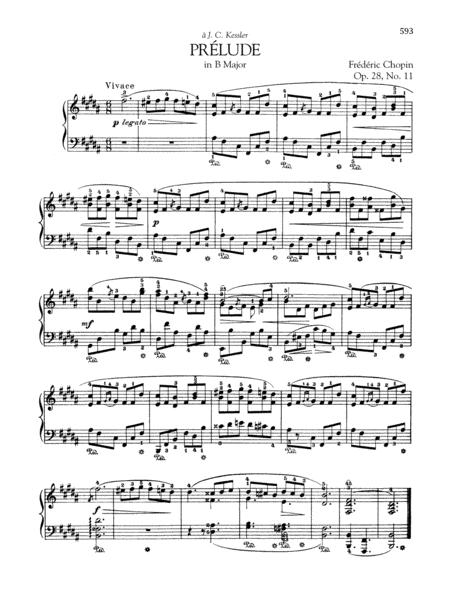 Prélude in B Major, Op. 28, No. 11