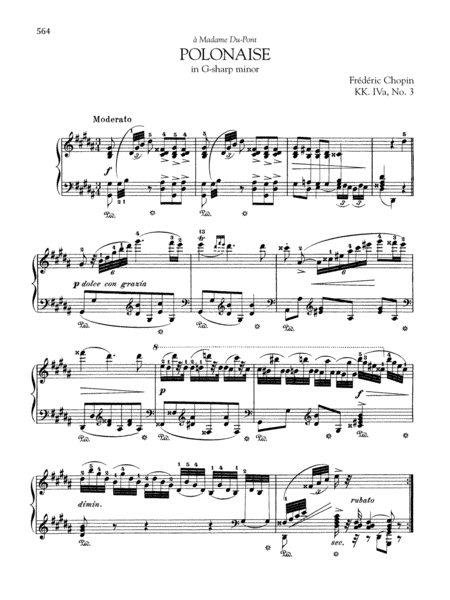 Polonaise in G-sharp minor, KK. IVa, No. 3