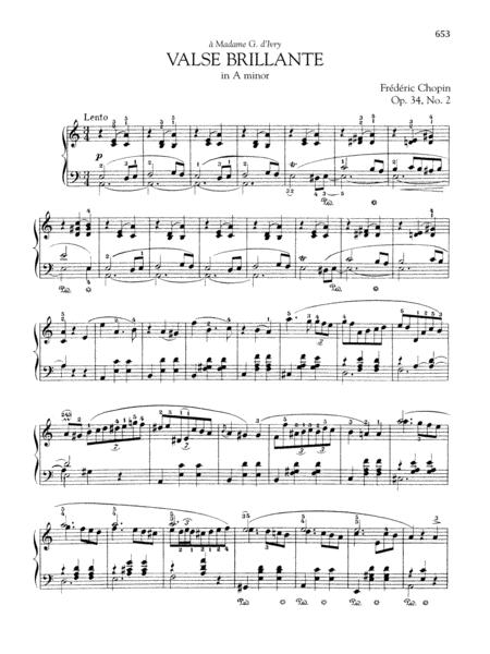 Valse brillante in A minor, Op. 34, No. 2