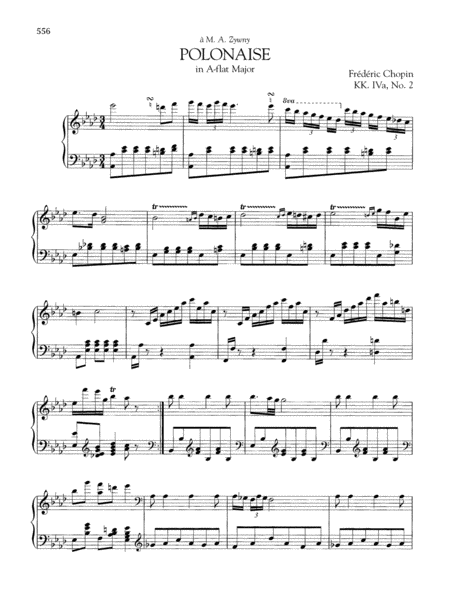 Polonaise in A-flat Major, KK. IVa, No. 2