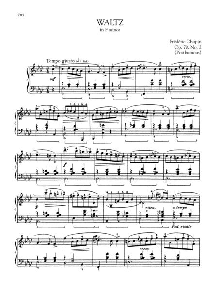 Waltz in F minor, Op. 70, No. 2 (Posthumous)