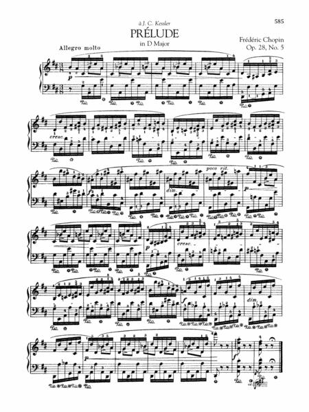 Prélude in D Major, Op. 28, No. 5