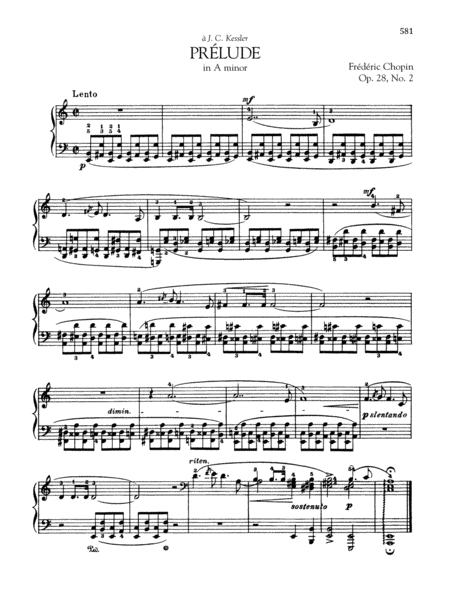 Prélude in A minor, Op. 28, No. 2