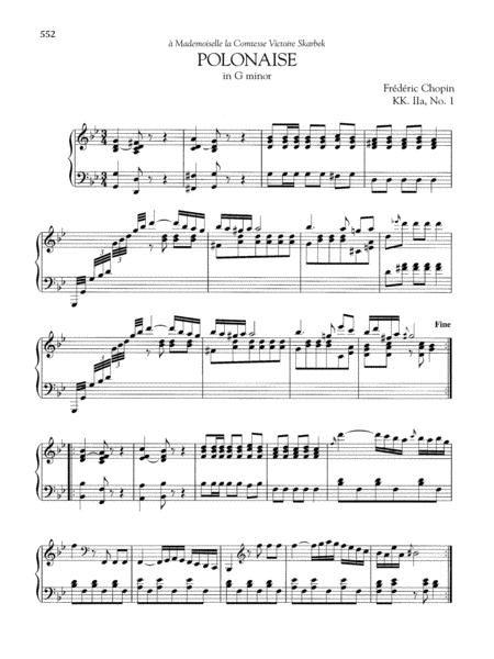 Polonaise in G minor, KK. IIa, No. 1