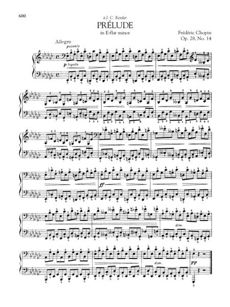 Prelude in E-flat minor, Op. 28, No. 14