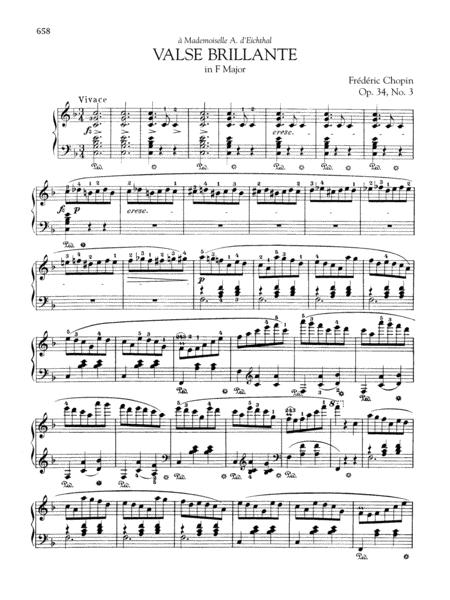 Valse brillante in F Major, Op. 34, No. 3