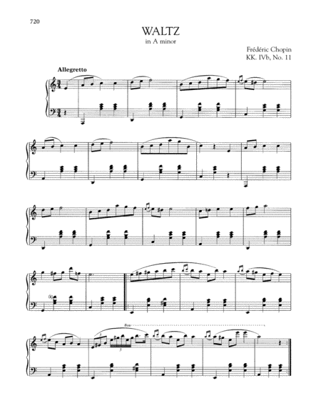 Waltz in A minor, KK. IVb, No. 11