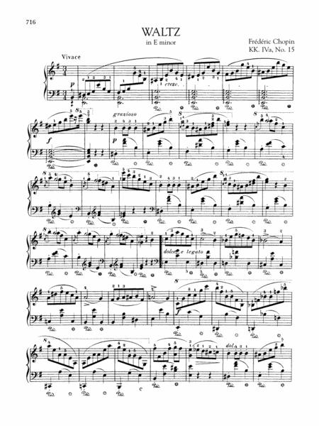 Waltz in E minor, KK. IVa, No. 15