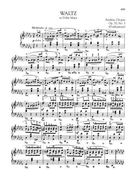 Waltz in D-flat Major, Op. 70, No. 3 (Posthumous)
