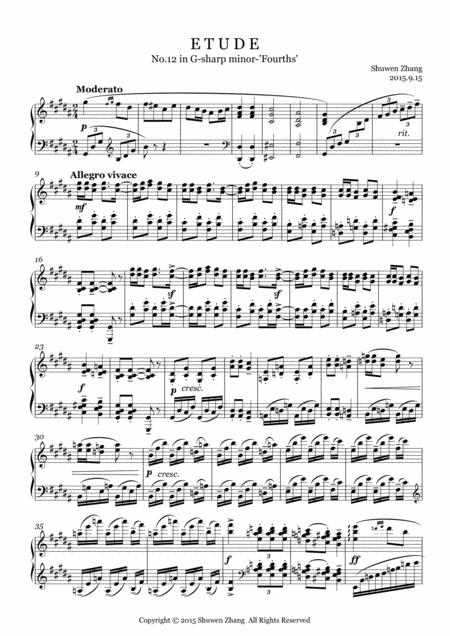 24 Etudes-No.12 in G-sharp minor-'Fourths'