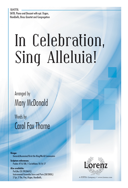 In Celebration, Sing Alleluia!