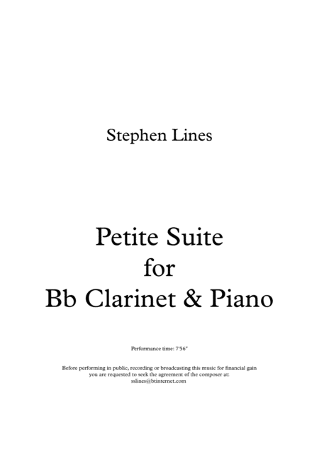 Petite Suite for Bb Clarinet & Piano