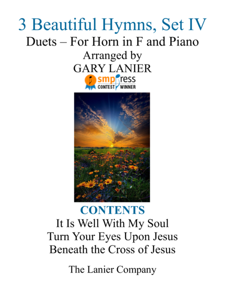 Gary Lanier: 3 BEAUTIFUL HYMNS, Set IV (Duets for Horn in F & Piano)