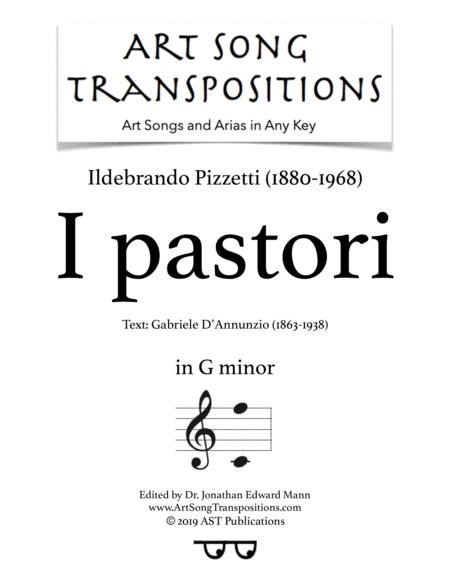 I pastori (G minor)
