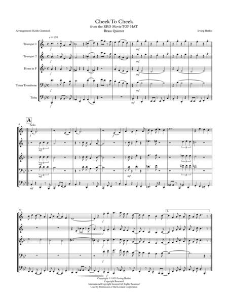Cheek To Cheek: Brass Quintet (1930s-style)
