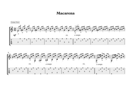 Macarena spanish guitar solo