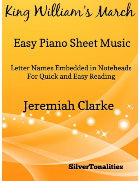 King William's March Easy Piano Sheet Music