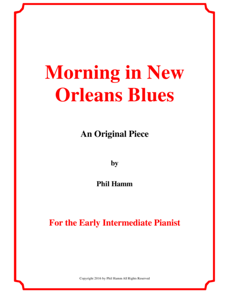 Morning in New Orleans Blues
