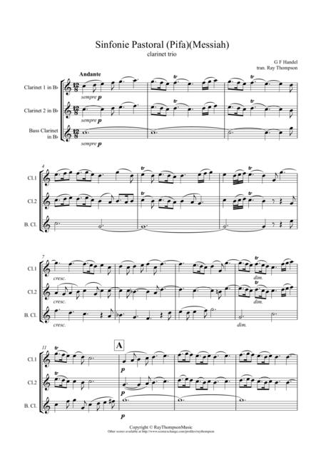 Handel: Sinfonie Pastoral (Pifa)(Messiah) - clarinet trio